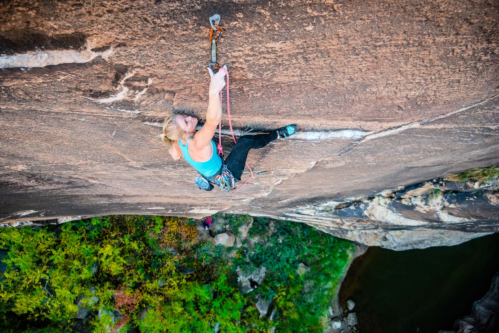Alyse Dietel on a new route | Winslow, Az