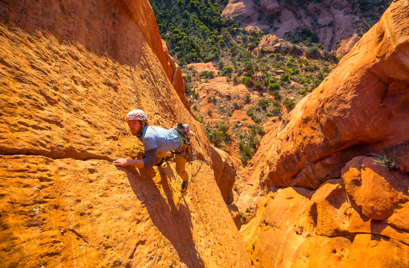 Jeff Snyder makes the second ascent of Rotor Rampage (5.11+) | Sedona, Az